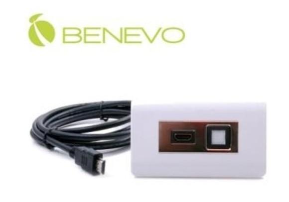 新竹超人3C BENEVO HDMI網線型簡報廣播系統-白色BPSC500PNLW可內嵌於桌面連接至簡報廣播系統