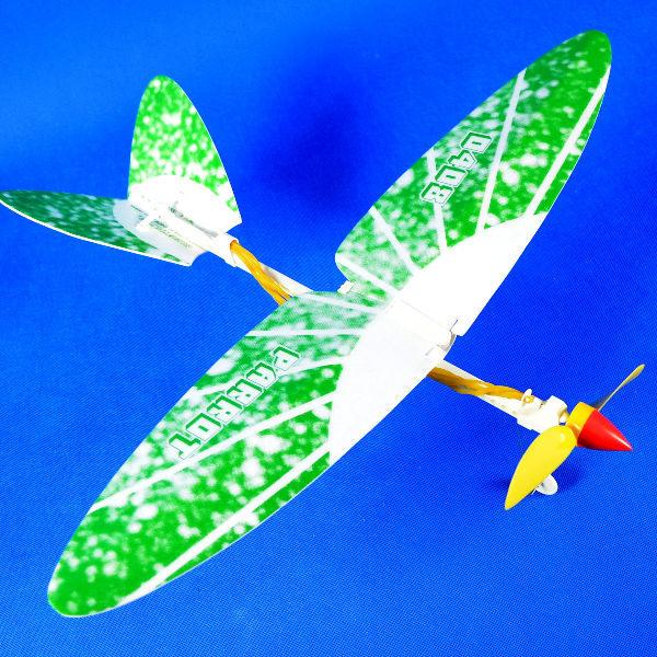 佳廷家庭 DIY紙模型立體勞作3D立體拼圖專賣店 航空模型飛機 橡筋動力飛機1 綠 SunnyFlyer