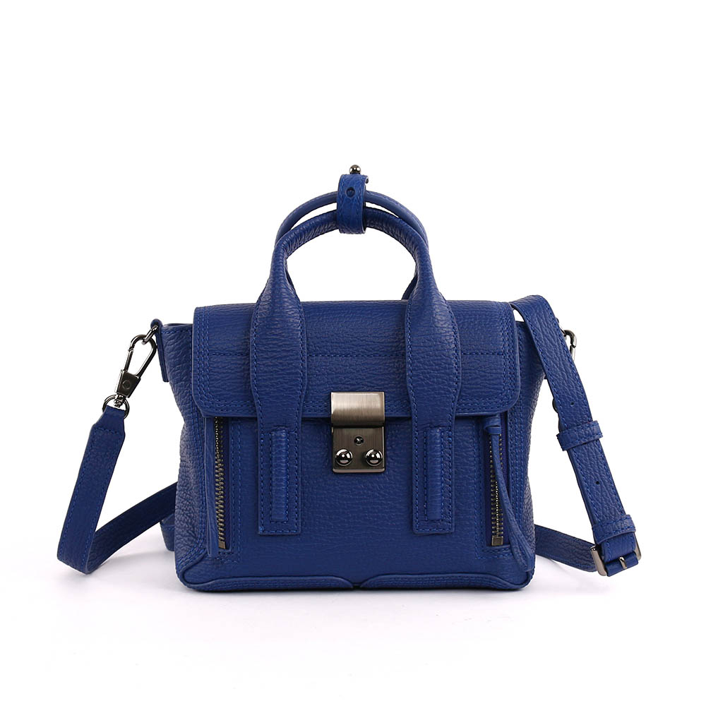 【3.1 Phillip Lim】mini牛皮肩背斜背二用包(電子藍) AP13-0226 SKC COBALT