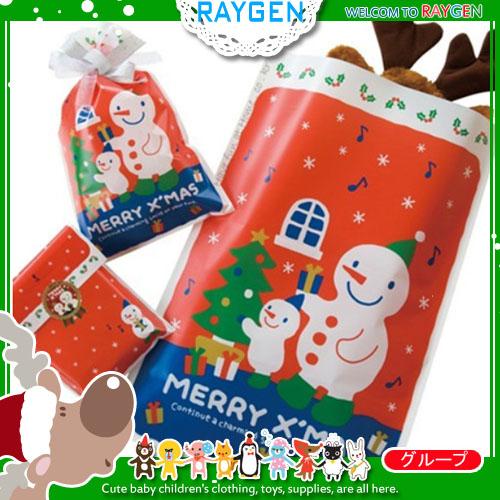 烘焙餅乾聖誕X'MAS雪人糖果禮物平口袋 單售