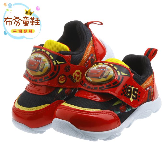 《布布童鞋》Cars閃電麥坤紅色炫彩電燈運動鞋(14~19公分) [ M7A078A ] 紅色款
