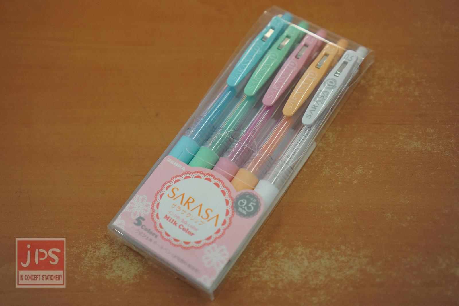 ZEBRA 斑馬 SARASA CLIP MILK 牛奶 鋼珠筆 (5色組)