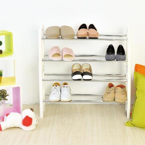 【澄境】 日系可疊伸縮鞋架2入拖鞋架/室內拖/鞋架/穿鞋用/玄關 SH52