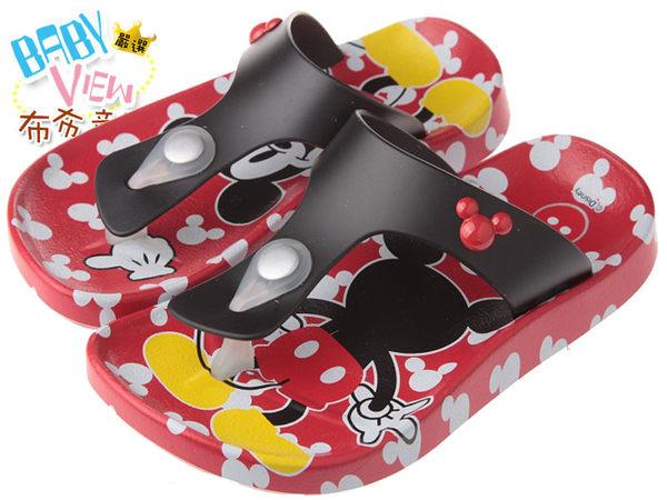 布布童鞋 Disney迪士尼米奇繽紛紅色人字拖鞋 夾腳拖鞋(19公分~23公分) [ MJG731A ] 紅色款