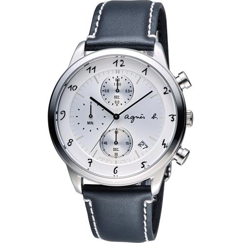 agnes b.法式優雅手寫體時標時尚腕錶BM3003J1 VD57-00A0S
