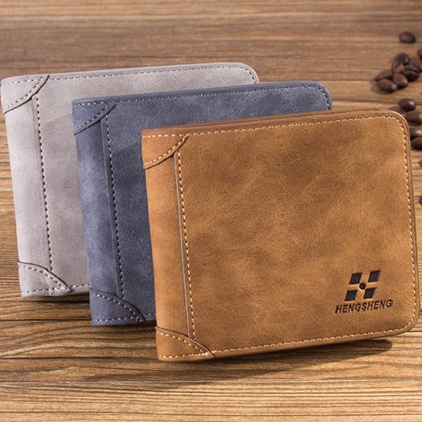 長夾短夾男皮夾錢包可放後背包包timber 74手錶趣77026-085簡約自信隨身麂皮短夾3色