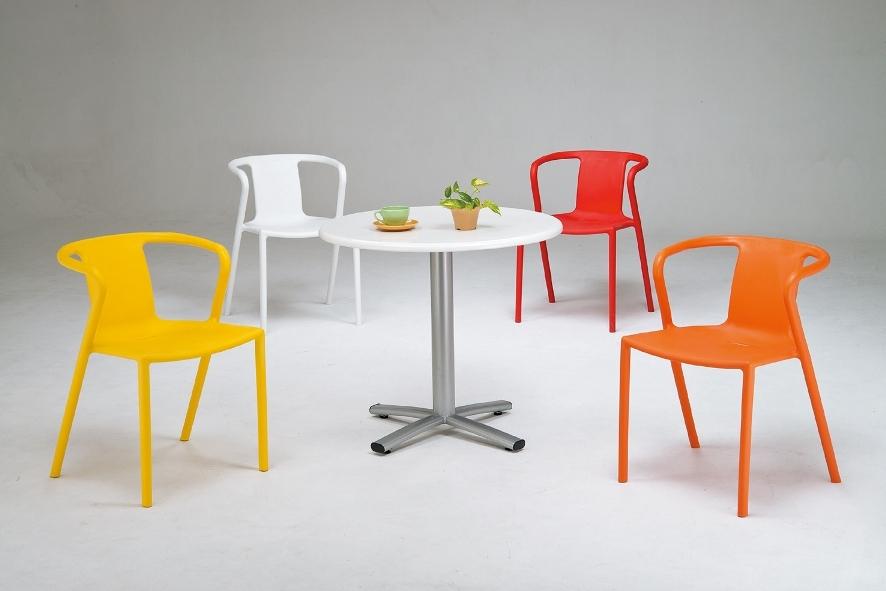 HY-748-2     凱爾造型休閒椅 / 洽談椅 / 餐椅-PP-黃色-單台