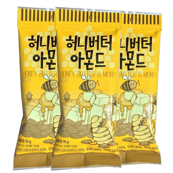 韓國超人氣零嘴Tom's Gilim蜂蜜奶油杏仁果35g