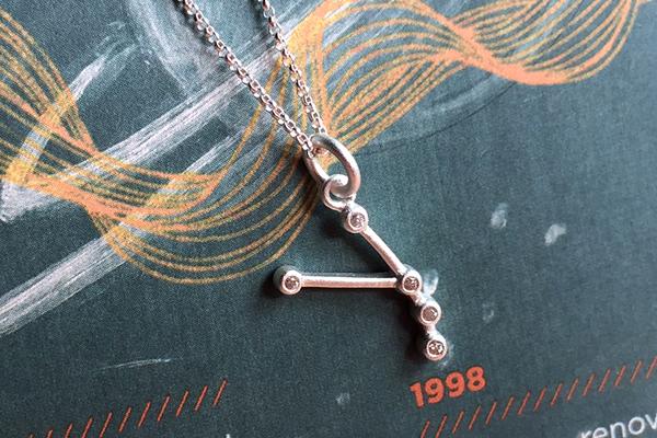 925純銀+鋯石小星星 牡羊座 Aries 極簡星座珠寶項鍊 DeeDee Jewellery 生日禮物、七夕情人節禮物