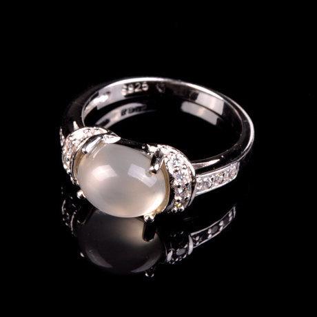 特價水晶月光石戒指轉運珠