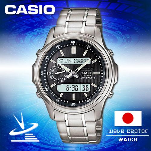 CASIO卡西歐手錶專賣店CASIO電波LCW-M300D-1AJF日系男錶黑面太陽能防水50米礦物玻璃不鏽鋼錶帶