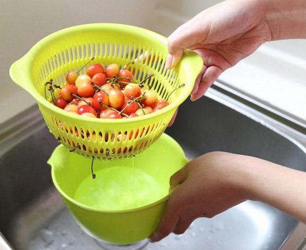 日本製inomata coppo瀝水籃瀝水器置物盒收納盒廚房小物辦公小物無毒無味cZ思考家