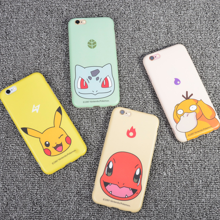 寶可夢MD014 iPhone6蘋果6S plus保護套5.5吋軟殼防摔款皮卡丘小火龍妙蛙種子可達鴨