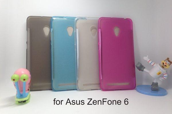 愛思摩比Asus ZenFone 6軟質磨砂保護殼軟套布丁套保護套附保護貼