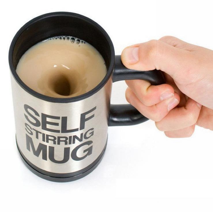 懶人機不鏽鋼自動攪拌機咖啡攪拌機自動攪拌咖啡杯