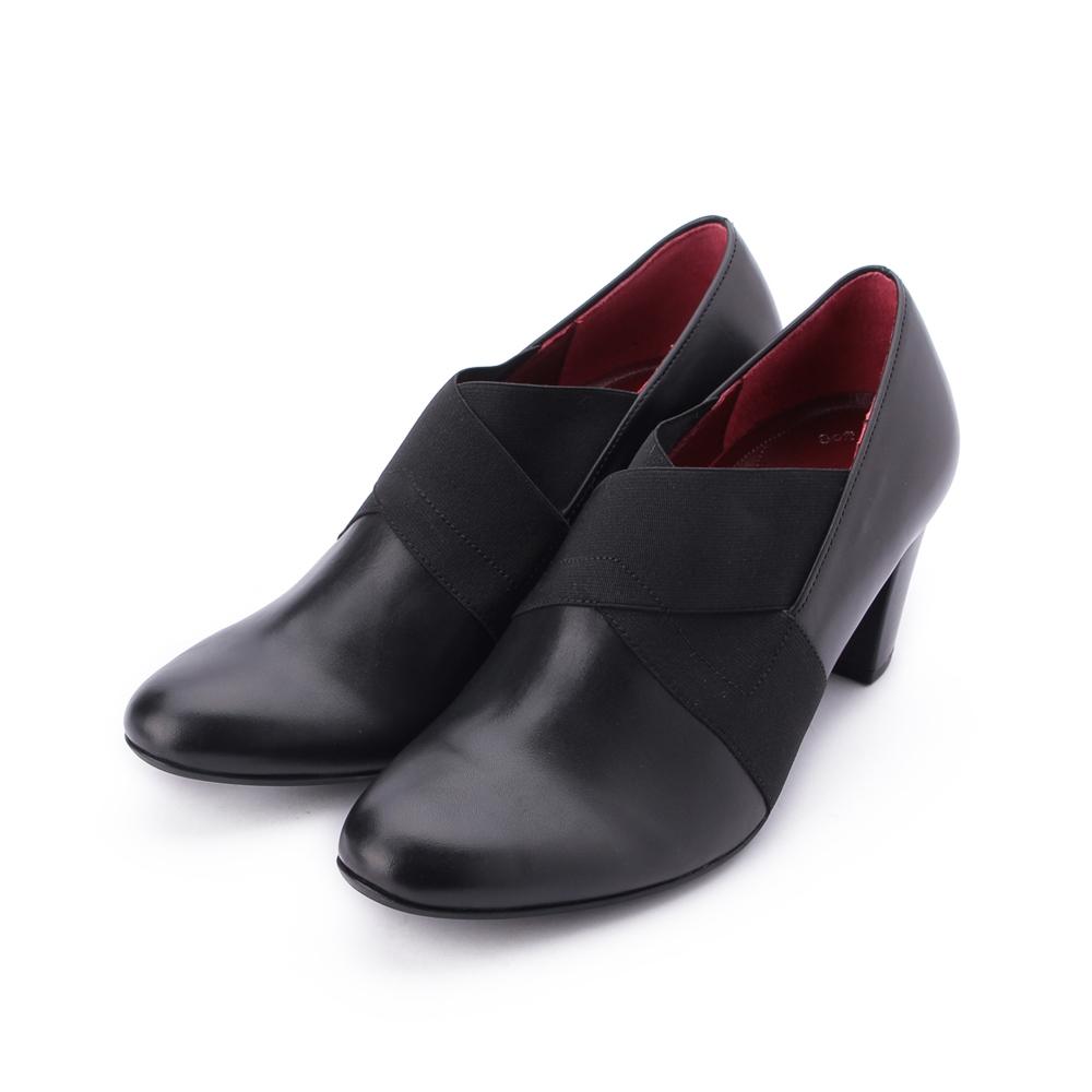 德國GABOR 真皮交叉粗跟繃帶鞋 黑 92.165.57 女鞋