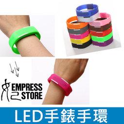 【妃航】日韓風格 LED 顯示 手錶 手環 彩色 發光 電子錶 糖果色 運動 果凍 路跑 多色可選