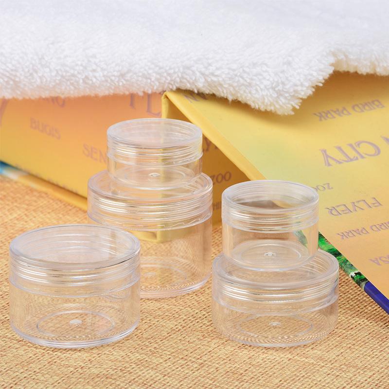 『藝瓶』瓶瓶罐罐 空瓶 空罐 隨身瓶 旅行組 藥膏盒 化妝保養品分類瓶 透明圓形乳霜分裝瓶子-10g
