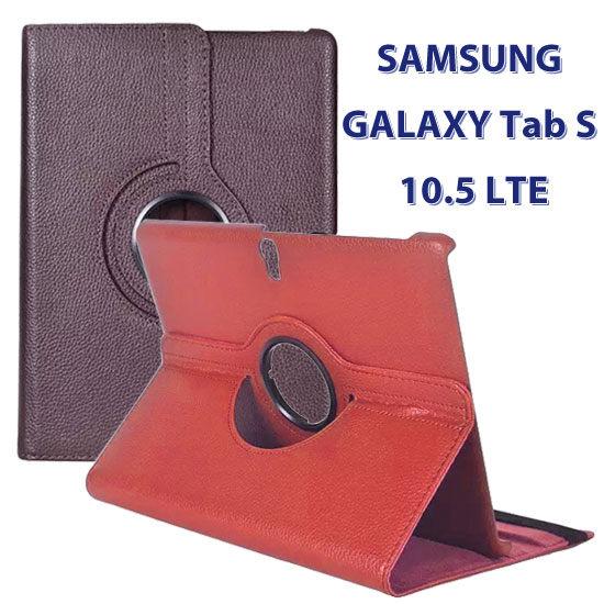 旋轉斜立SAMSUNG GALAXY Tab S 10.5 T805 4G LTE T800 WiFi平板專用荔枝紋書本式保護套側掀支架展示