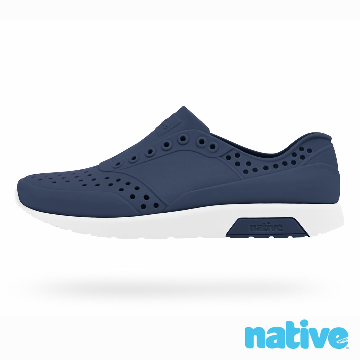 native LENNOX CHILD雷諾鞋-海軍藍x貝殼白小童
