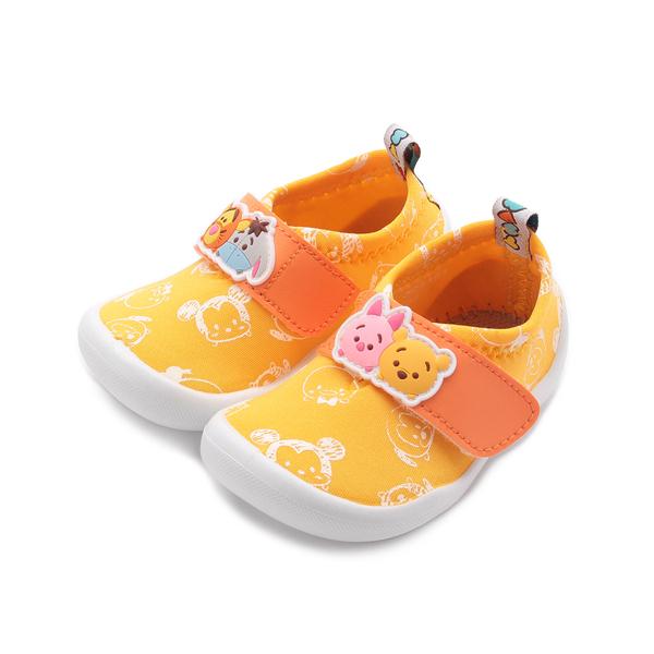 DISNEY Tsum Tsum 小熊維尼寶寶鞋 黃 中小童鞋 鞋全家福