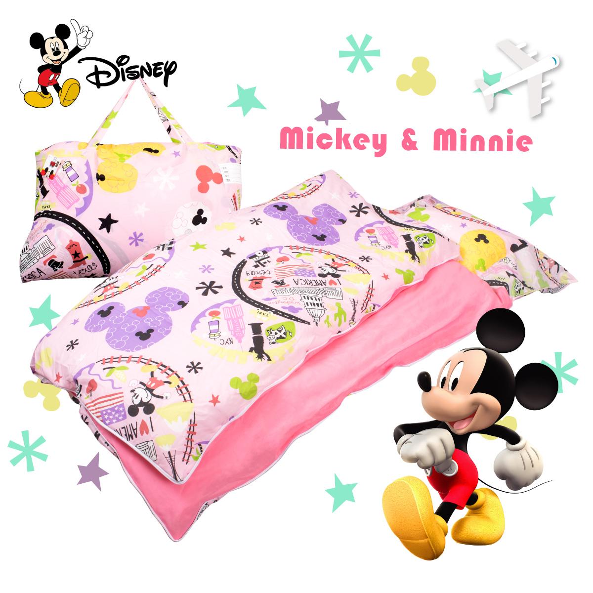 米奇旅行粉兒童睡袋標準台灣製