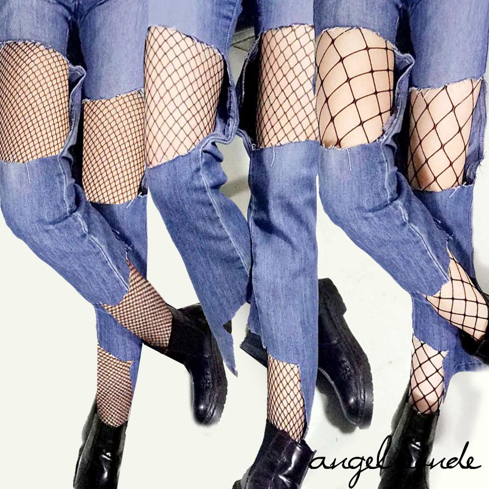 天使波堤【LB0058】耍心機!百搭性感摟空漁網絲襪網洞襪褲 (共三款)美人心計韓妞穿搭成人女襪