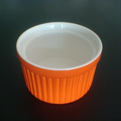 彩瓷布丁蛋糕烤模(橘色-120ml)/陶瓷器皿/烘焙用品