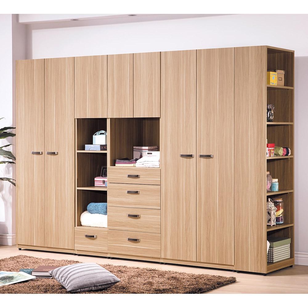 【森可家居】諾拉系統式9.3尺衣櫥 6HY100-5