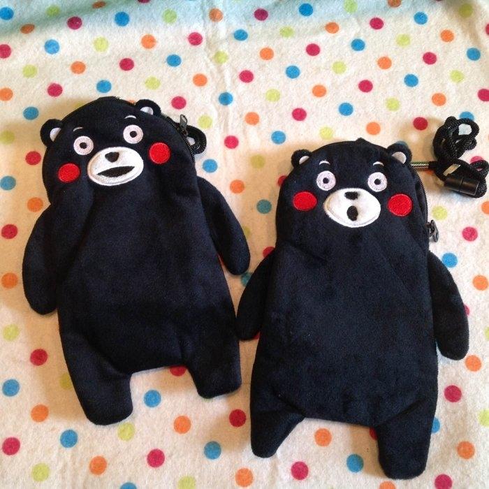 發現好貨日本吉祥物熊本熊kumamon掛繩卡包手機袋卡套識別證零錢包收納包