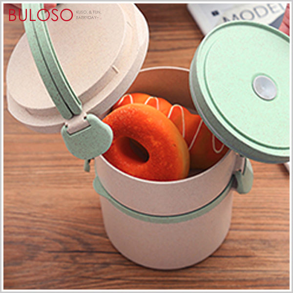 《不囉唆》小麥秸稈圓形密封便當盒-單層 可微波 學生上班族 飯盒 野餐 餐具(可挑款/色)【A425457】