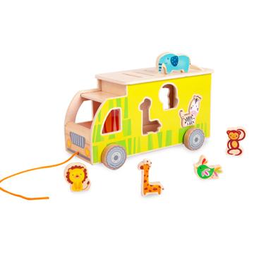 木製玩具classic world動物遊園遊戲車