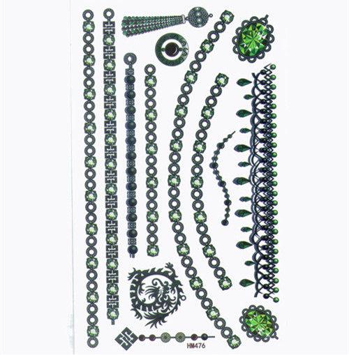 薇嘉雅  長條飾品  紋身貼紙 HM476