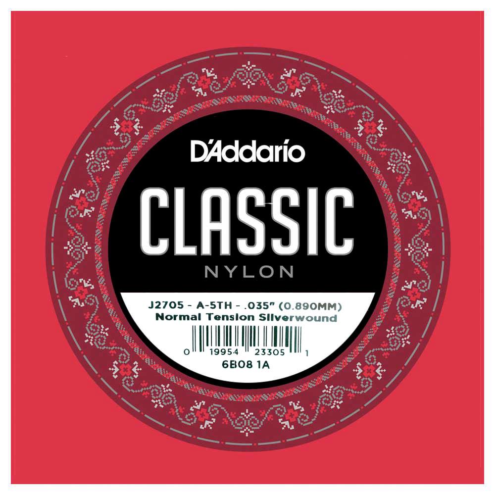 小叮噹的店-D'Addario J2705 古典吉他弦 第五弦 A弦 (032) (J27 A弦)