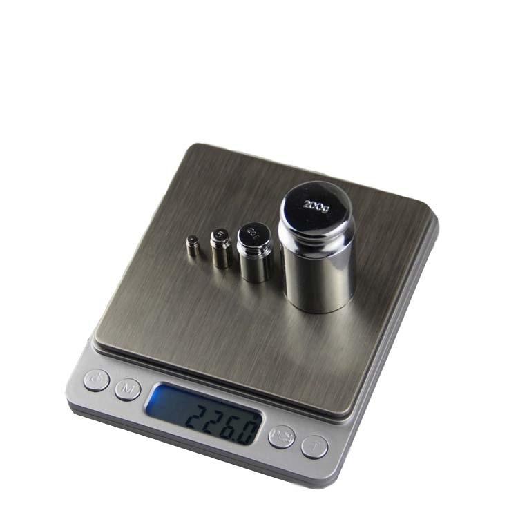 3kg/0.1不繡鋼電子秤 液晶螢幕 高精密 超薄 電子秤 烘焙秤珠寶秤茶葉秤(500g/0.01g)(3kg/0.1g )