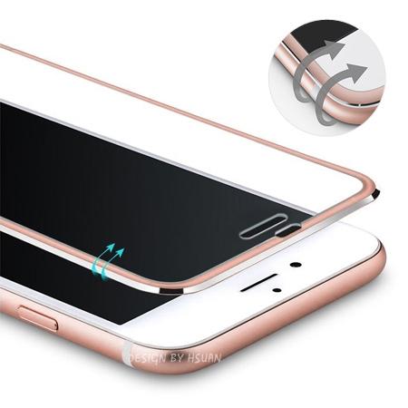 iPhone 6 6s Plus 鋁合金邊框鋼化玻璃保護貼 霧面金屬色 弧面滿版 全屏 蘋果6 i6