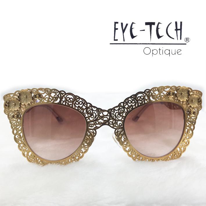 橘子樹眼鏡Eye Tech鏤空花紋立體花太陽眼鏡獨家限量ET3269玫瑰金抗UV太陽眼鏡日本製