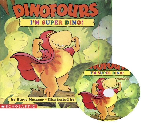 麥克書店IM SUPER DINO英文書附CD小恐龍品格繪本試聽