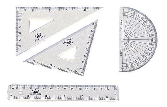 徠福 組合定規(尺組)15cm(6 ) KS-115 / 組