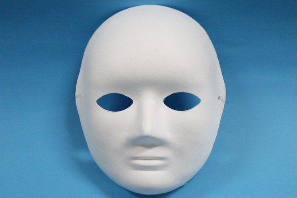 彩繪面具空白面具全臉面具.附鬆緊帶一袋50個入定40 DIY面具白臉譜歌劇魅影紙面具303036