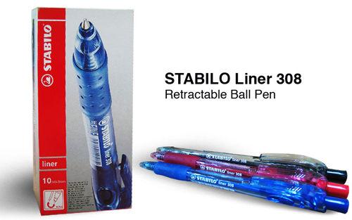 STABILO鵝牌 liner 308F細字自動原子筆 (0.5mm) 6色可選購
