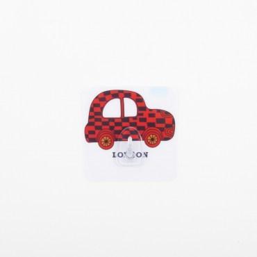 HOMMY黏貼式掛勾-紅色小車車單入