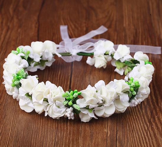 森女花環頭飾發箍發飾新娘花環攝影飾品韓式兒童公主花環手環─預購CH1726