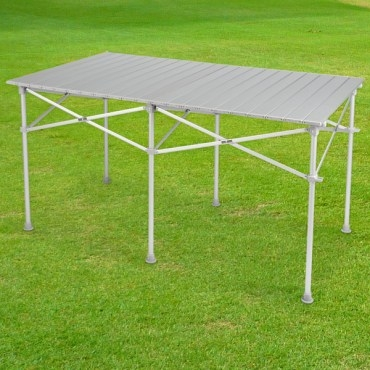 LIFECODE長型鋁合金蛋捲桌折疊桌124x70cm附收納袋