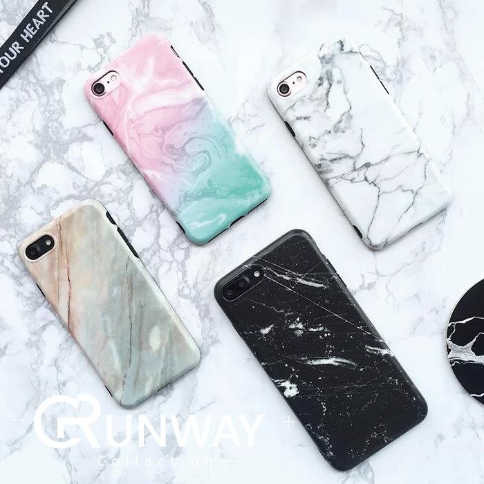 簡約大理石黑邊包邊iphone 7手機殼蘋果Iphone7 plus 6 6s Plus保護套軟殼情侶