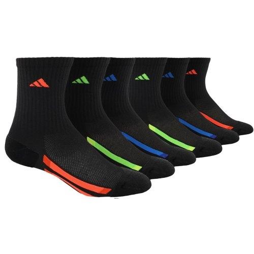 Adidas-  愛迪達學童6雙組襪子(黑色)