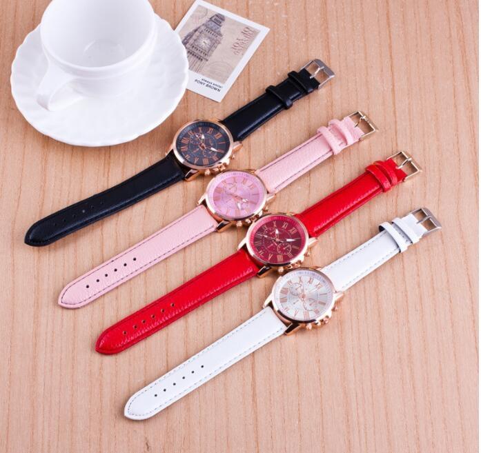 商城最低價韓國韓版熱賣極簡休閒三眼大錶盤手錶女錶男女錶皮帶情侶對錶手錶
