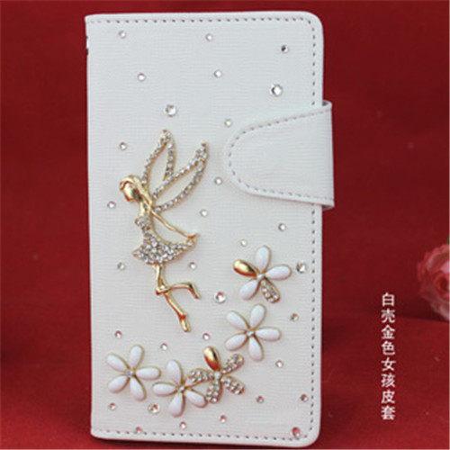 俏魔女美人館HTC ONE E8天使女孩皮套水鑽保護殼翻蓋套貼鑽手機套保護殼保護套