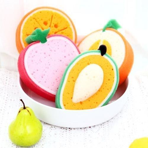 米菈生活館L02 3D立體菜瓜布洗澡刷海綿刷清潔刷水果造型萬用洗滌加厚泡棉