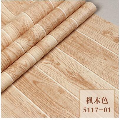 3D仿古立體木紋壁紙中式古典木板牆紙書房餐廳服裝店背景牆壁紙